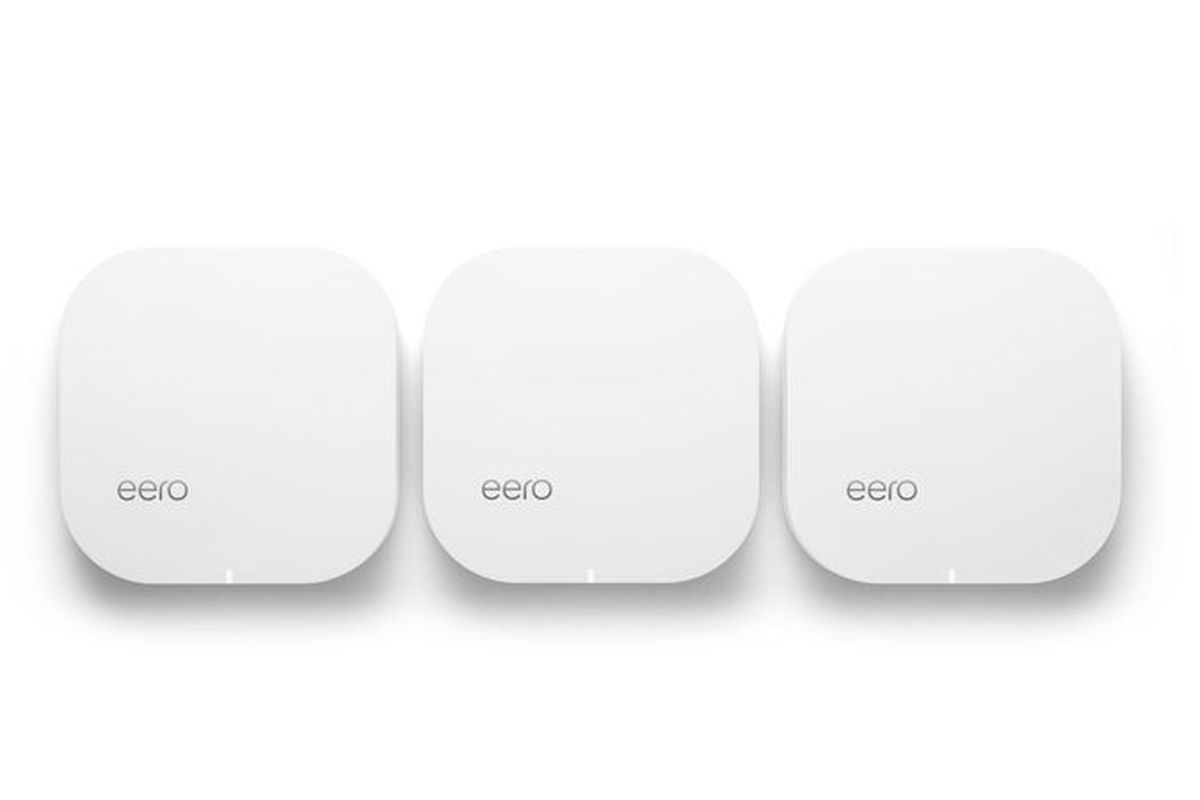 Eero's trio of routers uses mesh networking to help improve coverage and speed of home Wi-Fi networks