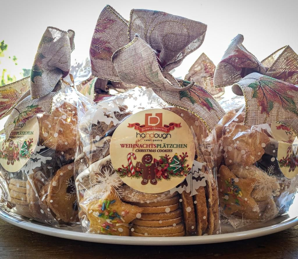Hahdough Christmas cookies