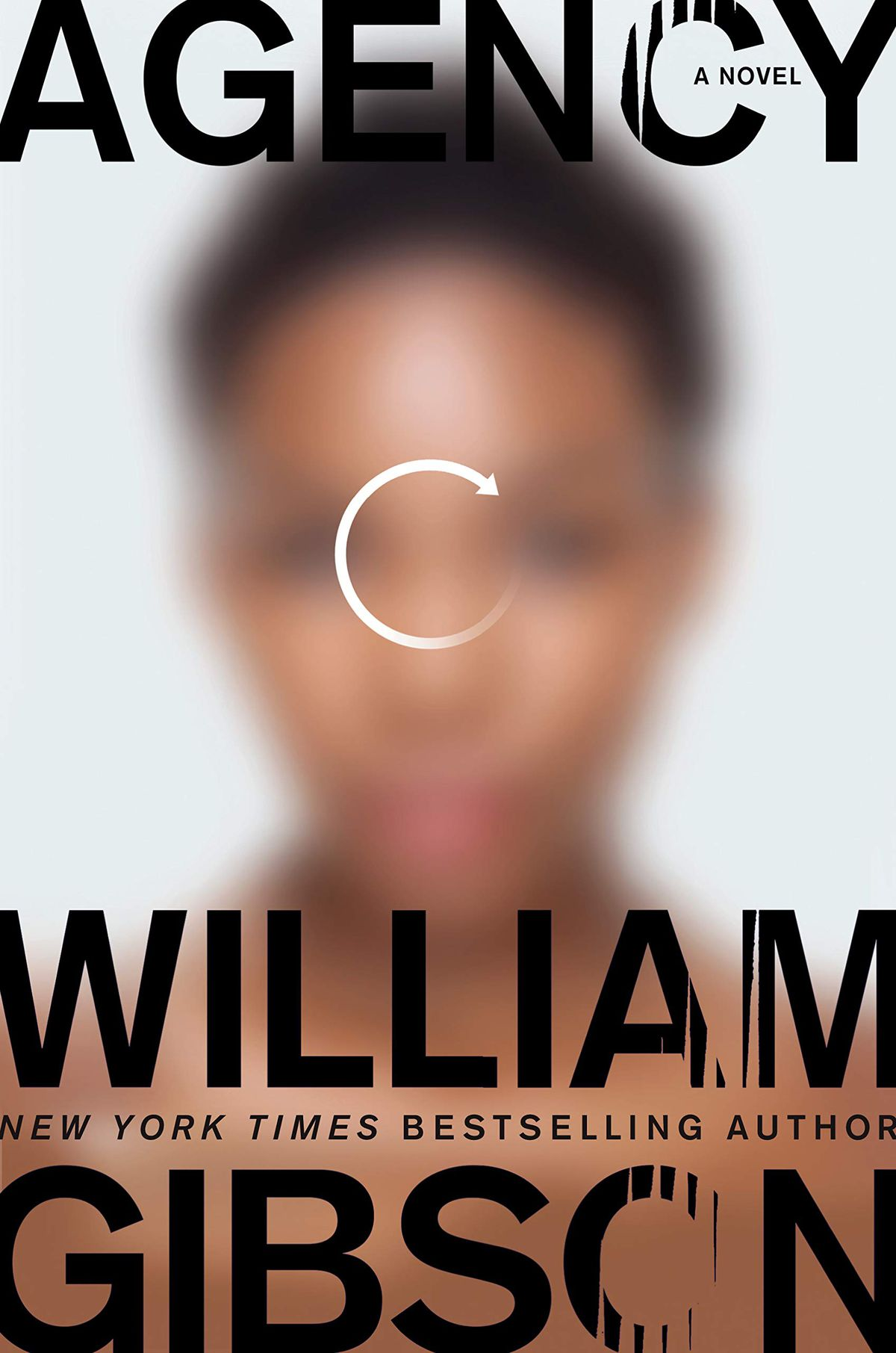 agency by william gibson cover has a black woman out of focus