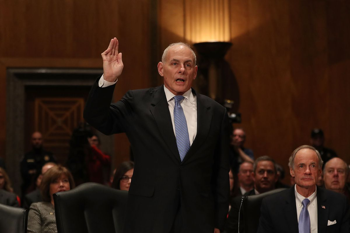 Senate Committee Holds Confirmation Hearing For Gen. John Kelly To Become Chief Of Homeland Security Dept.