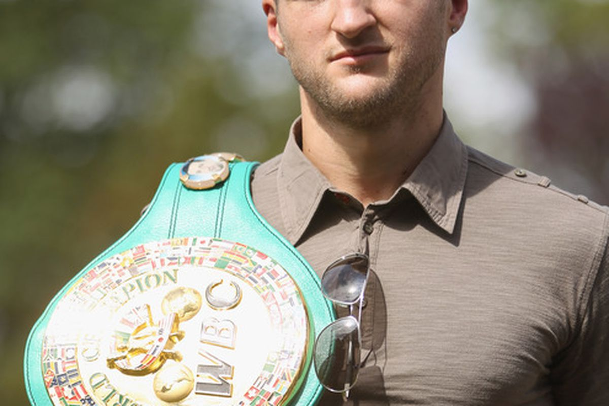 Carl Froch sounds a bit more open to fighting Lucian Bute than Andre Ward's promoter did yesterday, but it's just noise for now either way. (Photo by Tom Shaw/Getty Images)