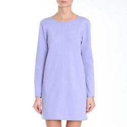 "<b>Tibi</b> Ponte Shift Dress in lavender, <a href=""http://www.tibi.com/shop/clothing/dresses/ponte-shift-dress#"">$385</a>"