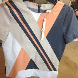 Sample top in leather