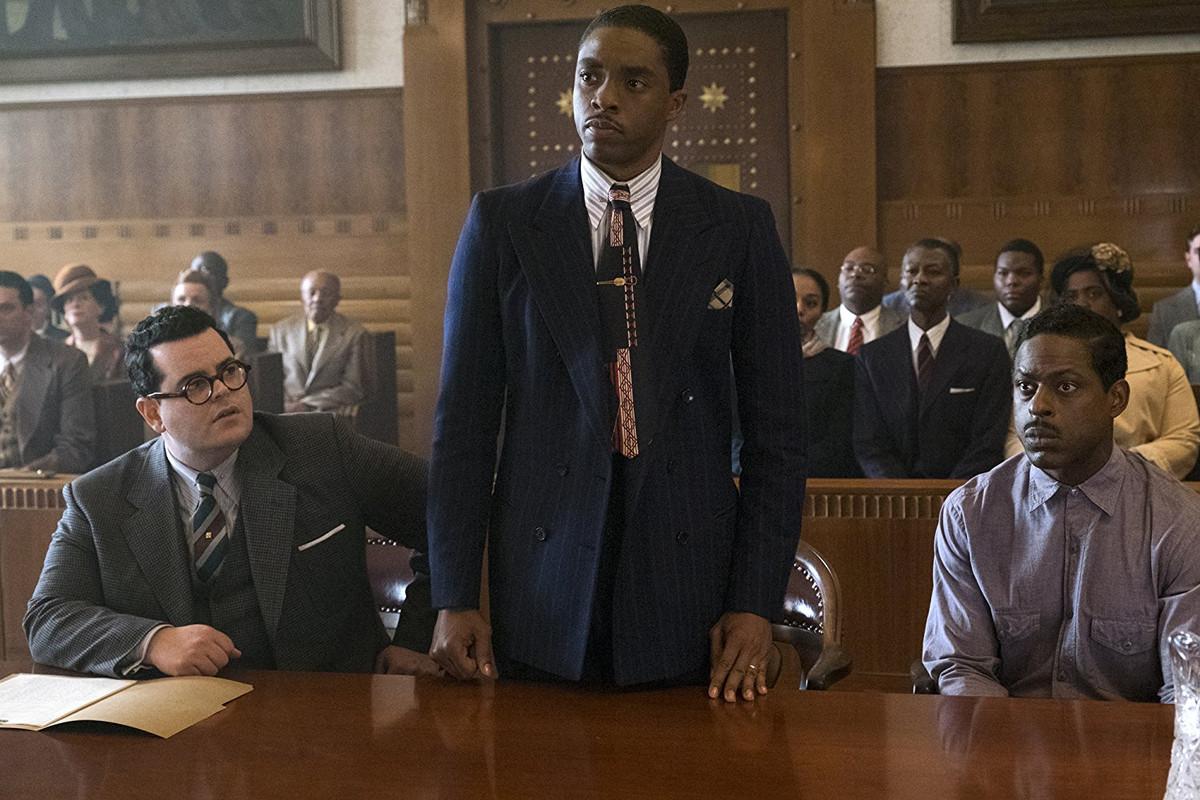 Josh Gad, Chadwick Boseman, and Sterling K. Brown in 'Marshall'