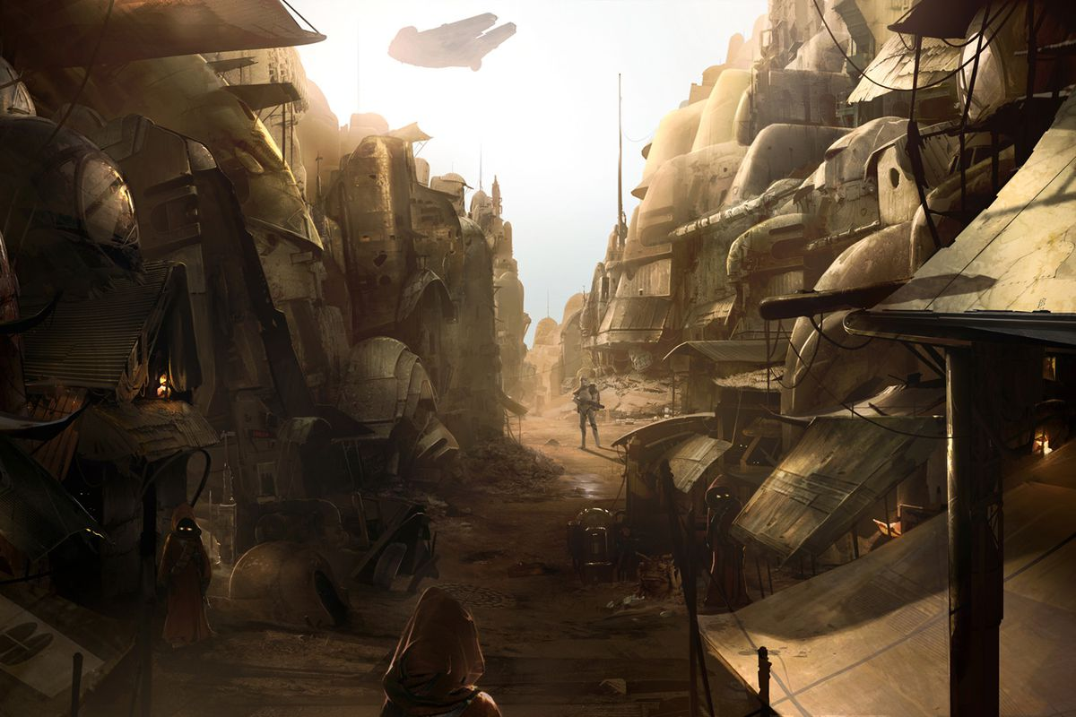 Star Wars 1313 artwork shows the canceled game's environments