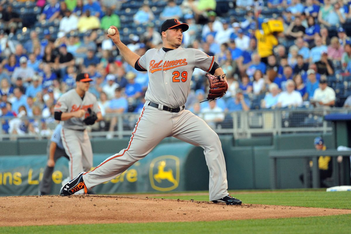 Tommy Hunter is basically a mid-00s Orioles pitcher. Maybe he'll play against type tonight, but don't hold your breath Mandatory Credit: Denny Medley-US PRESSWIRE