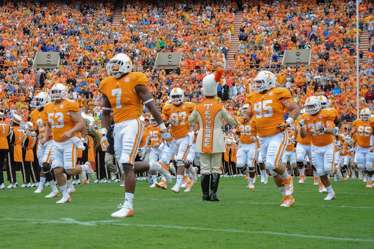 A nationally relevant game on Rocky Top?  Appears so, as the country turns its eyes to Knoxville Saturday to see if the 2012 edition of the Volunteers are for real. Mandatory Credit: Randy Sartin-US PRESSWIRE