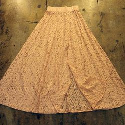 Blue Life lace maxi skirt, $98