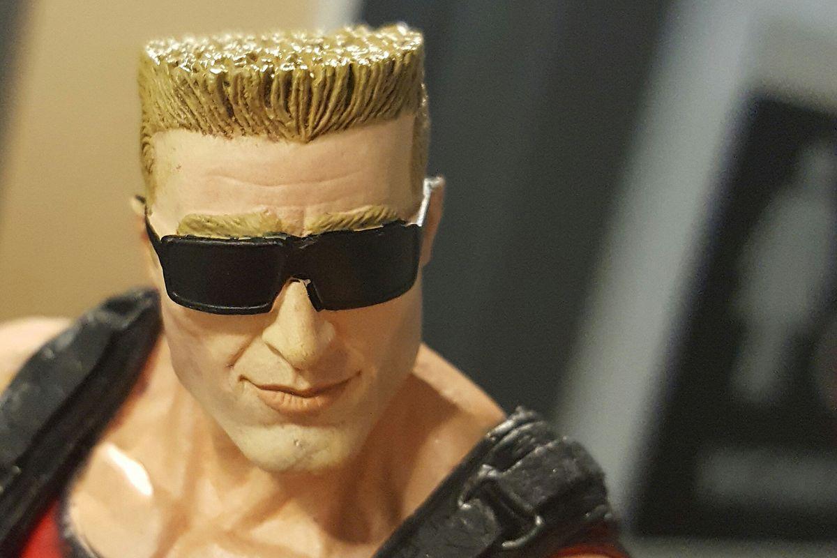 Duke Nukem figure close-up