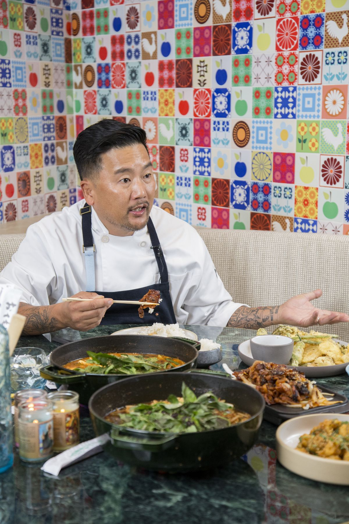 Roy Choi at the chef's table in Best Friend