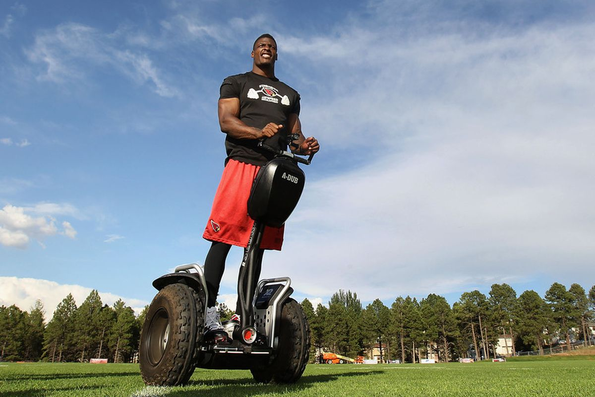 Yes, yes that is Adrian Wilson on a jacked up Segway.