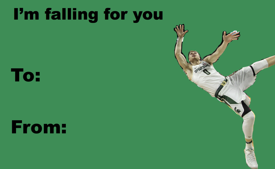 Go Green This Valentine S Day With These Msu Basketball