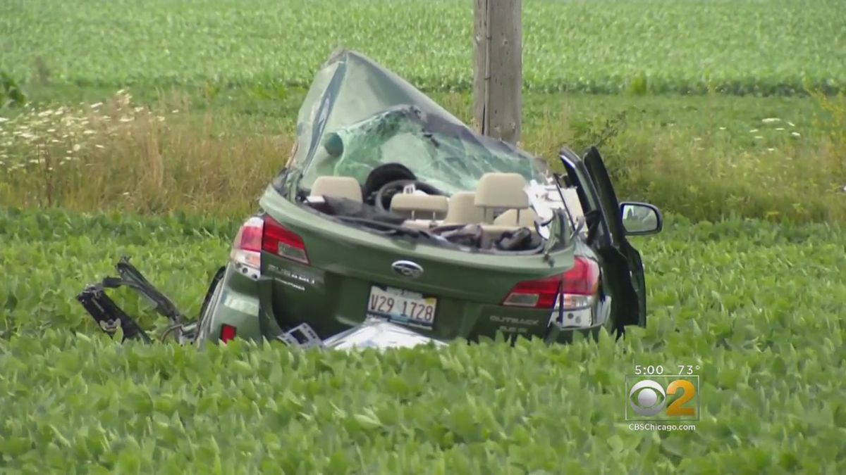 A woman and her three children died after a horrific crash in south suburban Beecher last month. | Photo courtesy of CBS Chicago