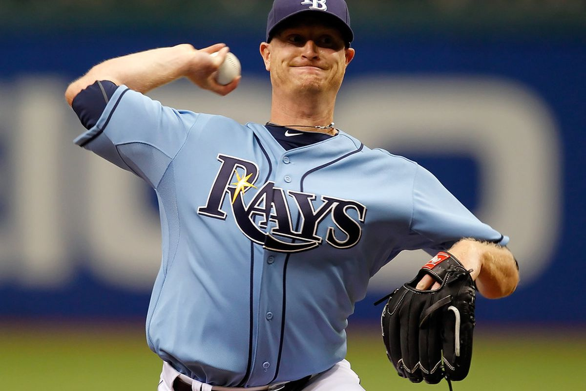 ST PETERSBURG, FL - MAY 01:  Pitcher Alex Cobb #53 of the Tampa Bay Rays pitches against the Los Angeles Angels of Anaheim during the game at Tropicana Field on May 1, 2011 in St. Petersburg, Florida.  (Photo by J. Meric/Getty Images)