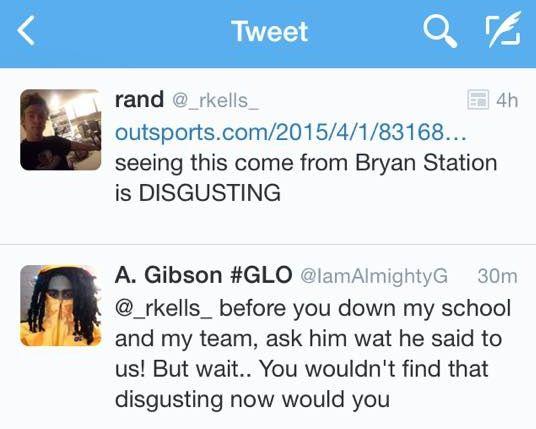 Bryan Station tweet
