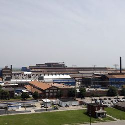 The U.S. Steel Granite City Works facility, after being shut down for roughly two years, recently restarted an idle blast furnace.   AP Photo/Jeff Roberson