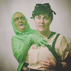 Max Dinerstein (@fauxpadrag) and Daddy Long Legs' (@daddylonglegsdrag) Ghostbusters number Oct. 2019 at Plot Twitst at Berlin and Jackhammer.