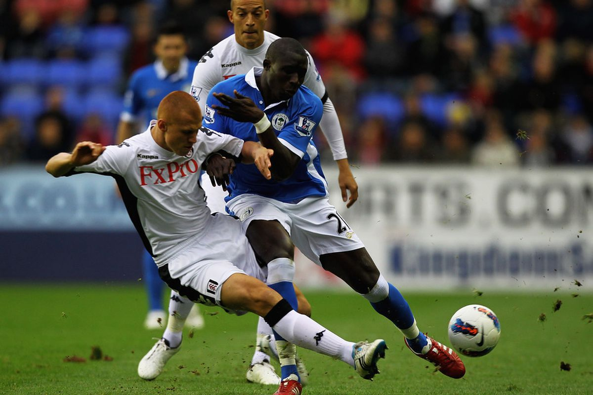 Steve Sidwell tackling Mohammed Diame, and possibly ruling him out of next weekends game?