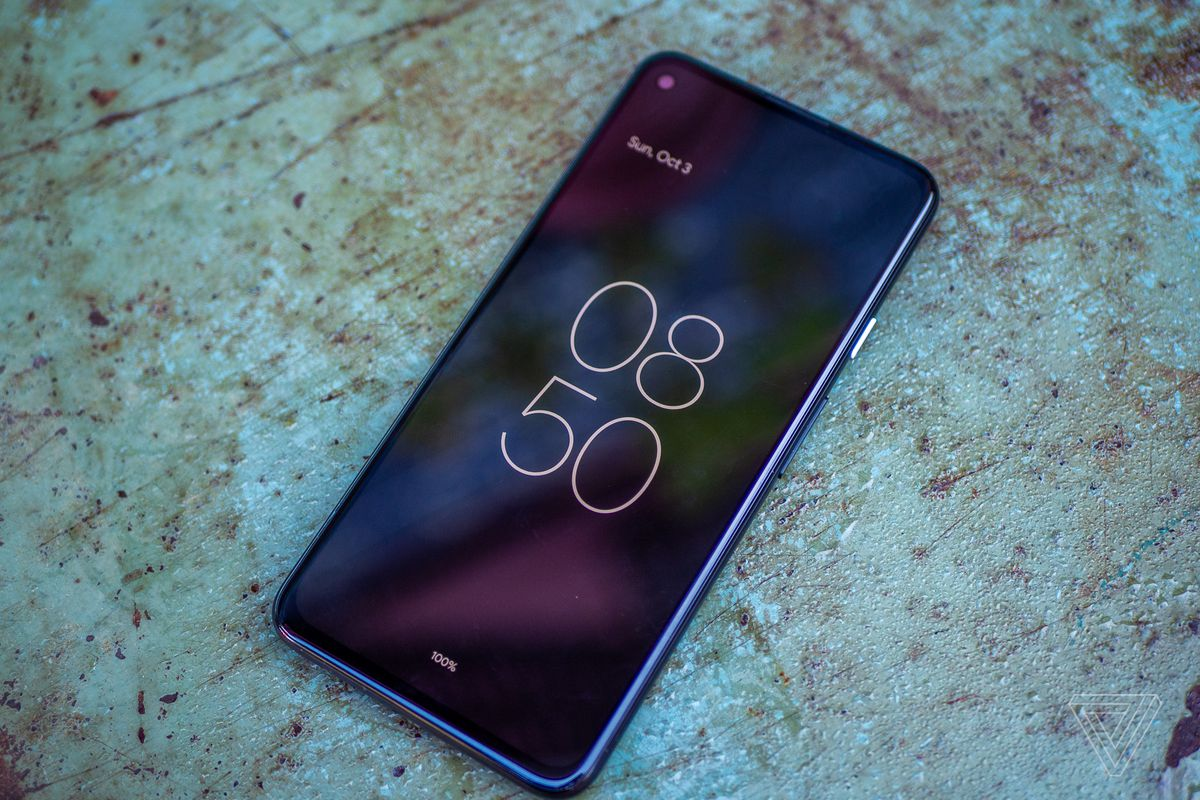 Android 12 beta running on a Pixel 4A 5G