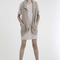 M. Patmos chunky vest, $150 (was $495); zip-back dress $150 (was $595)