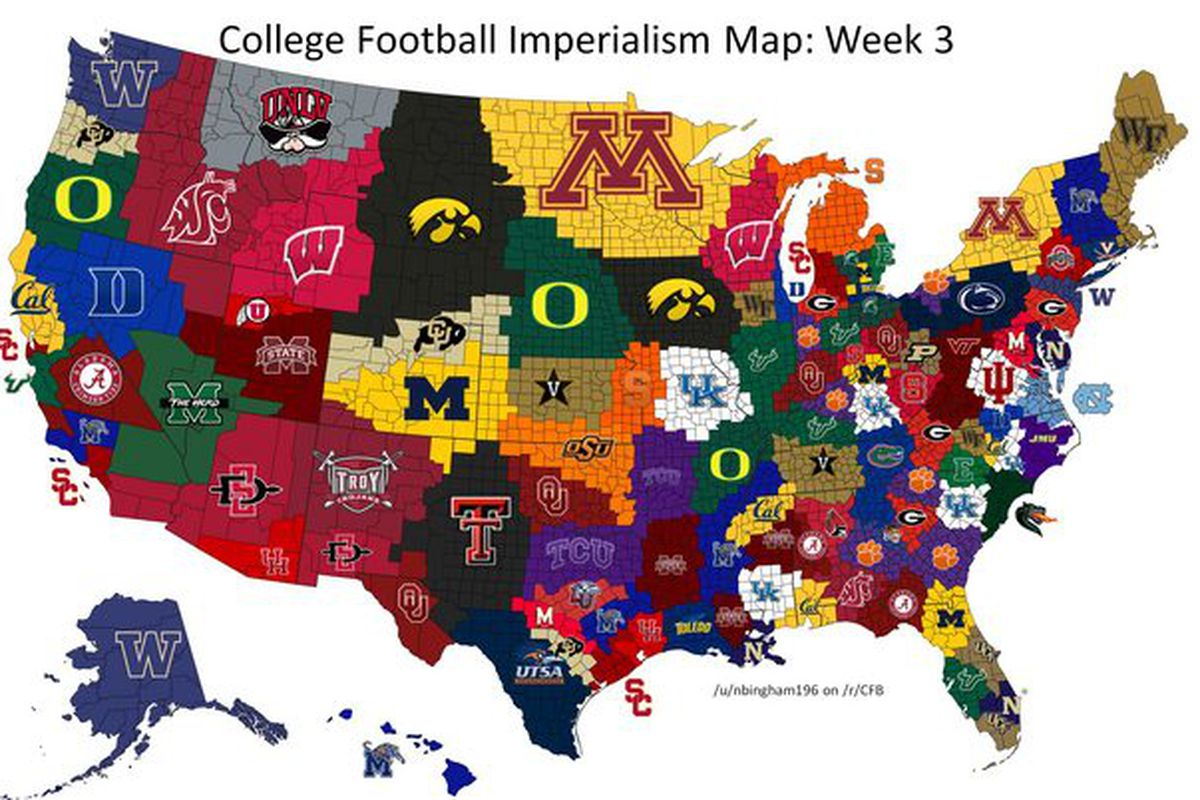 USF Football Imperialism Update: Staking Claim to the Midwest - The on agricultural revolution world map, ecology world map, colonial world map, peace world map, american view of the world map, the saboteur world map, gun world map, racism world map, european imperialism map, imperialism map of europe, imperialism latin america map, us imperialism map, lords of magic world map, ideology world map, congo imperialism map, northern european plain world map, culture world map, anthropology world map, ethnic conflict world map, battle of verdun world map,