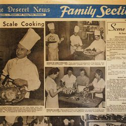A Deseret News photo spread in 1948 noted that the hotel's staff prepared food for about 4,000 people each day.
