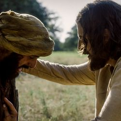 """Jesus (Jonathan Roumie) heals the leper in Episode 6 of """"The Chosen."""""""
