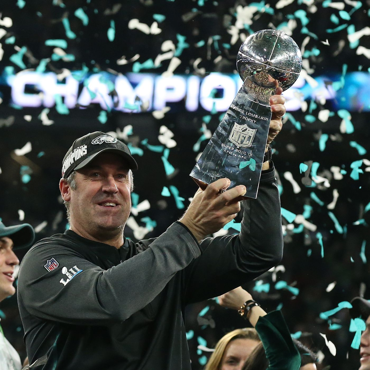 2a616b822d8 Doug Pederson raises Eagles Super Bowl flag at NFL Films headquarters