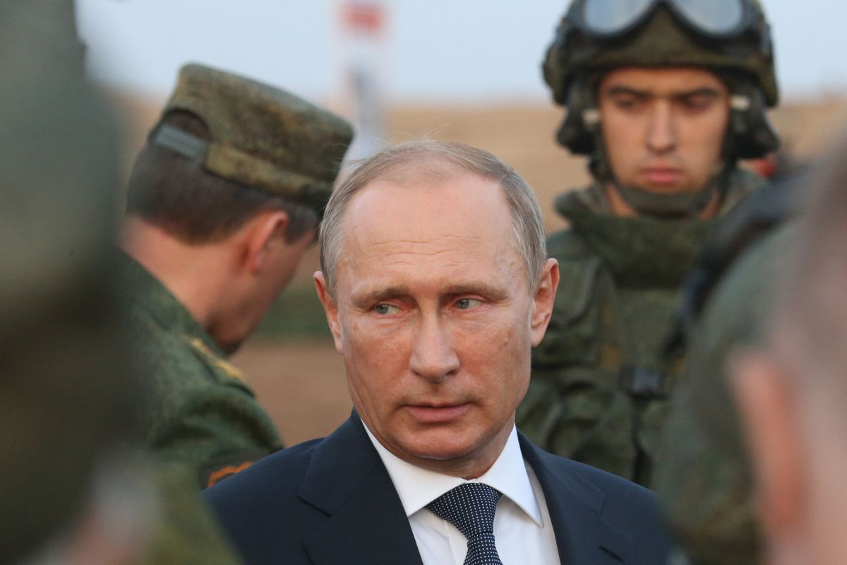 Russian President Vladimir Putin attends military exercises in Russia