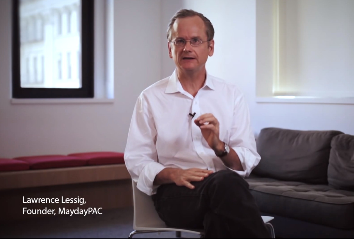 Mayday PAC co-founder Larry Lessig