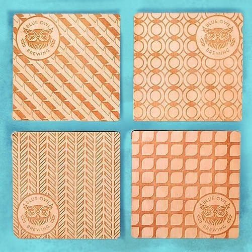 Coasters from Blue Owl Brewing