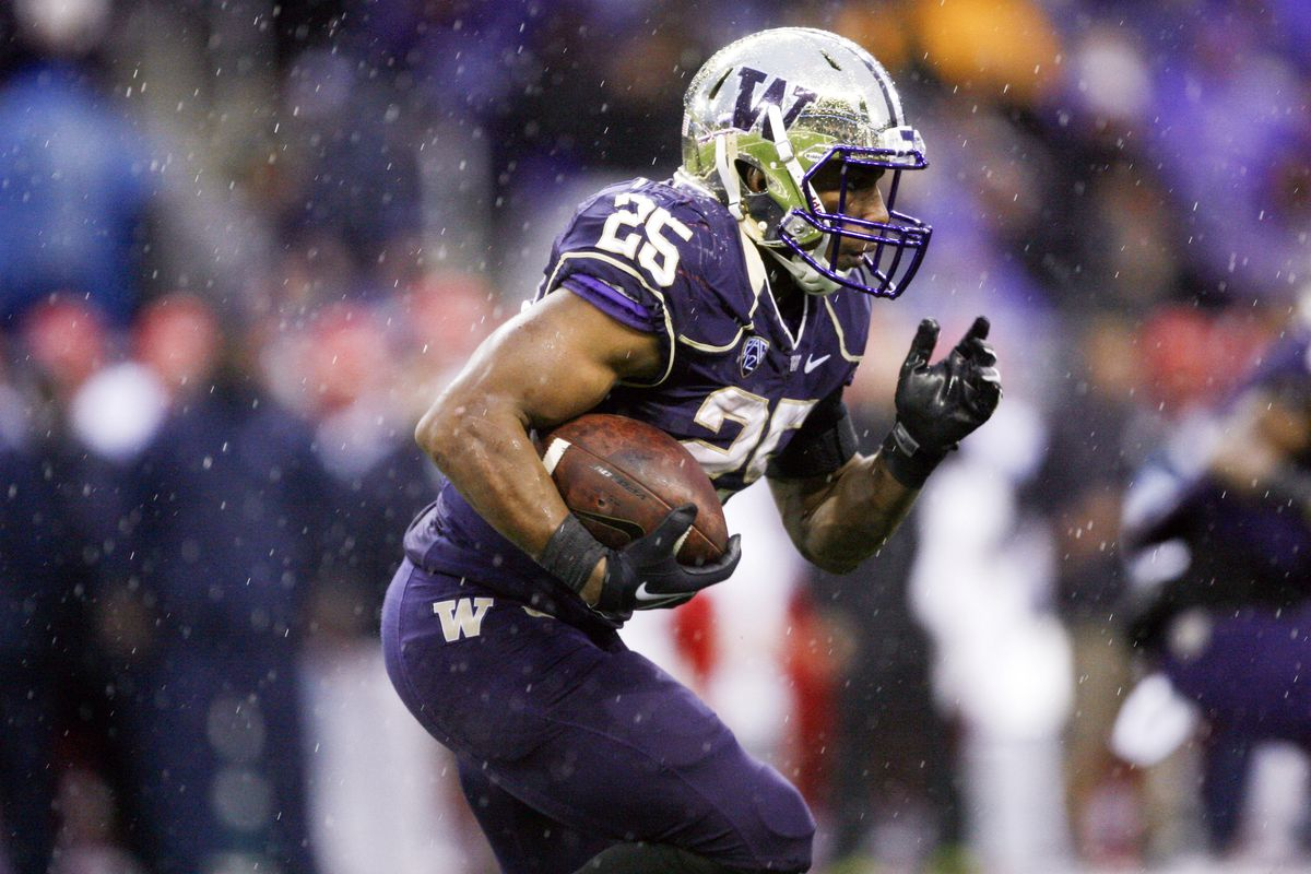 RB Bishop Sankey set a new Husky record with 40 carries in the win over Arizona