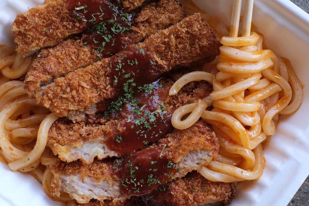 The spicy udon katsu from Roba Katsu