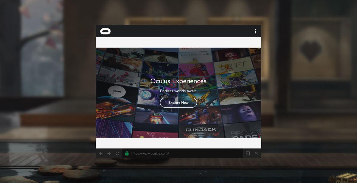 Oculus browser