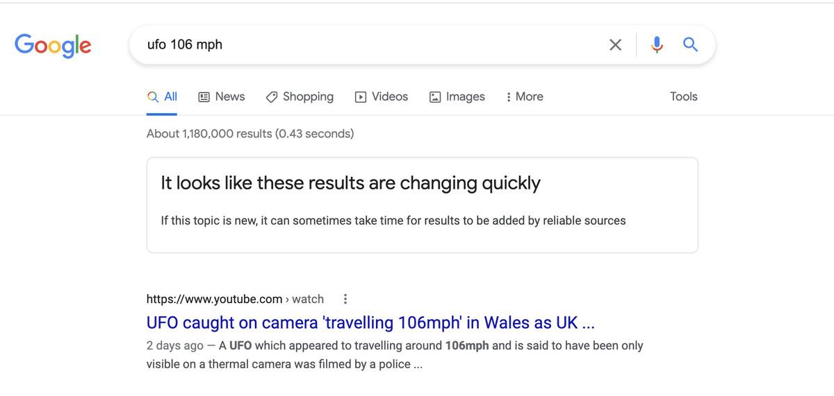 Google now warns people