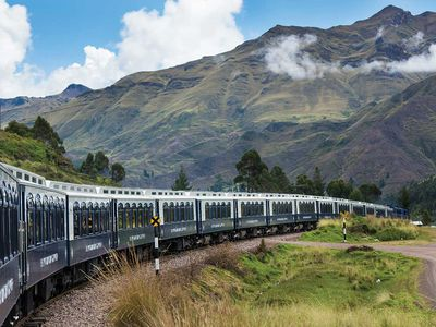 South America's first luxury sleeper train rolls through the Peruvian Andes