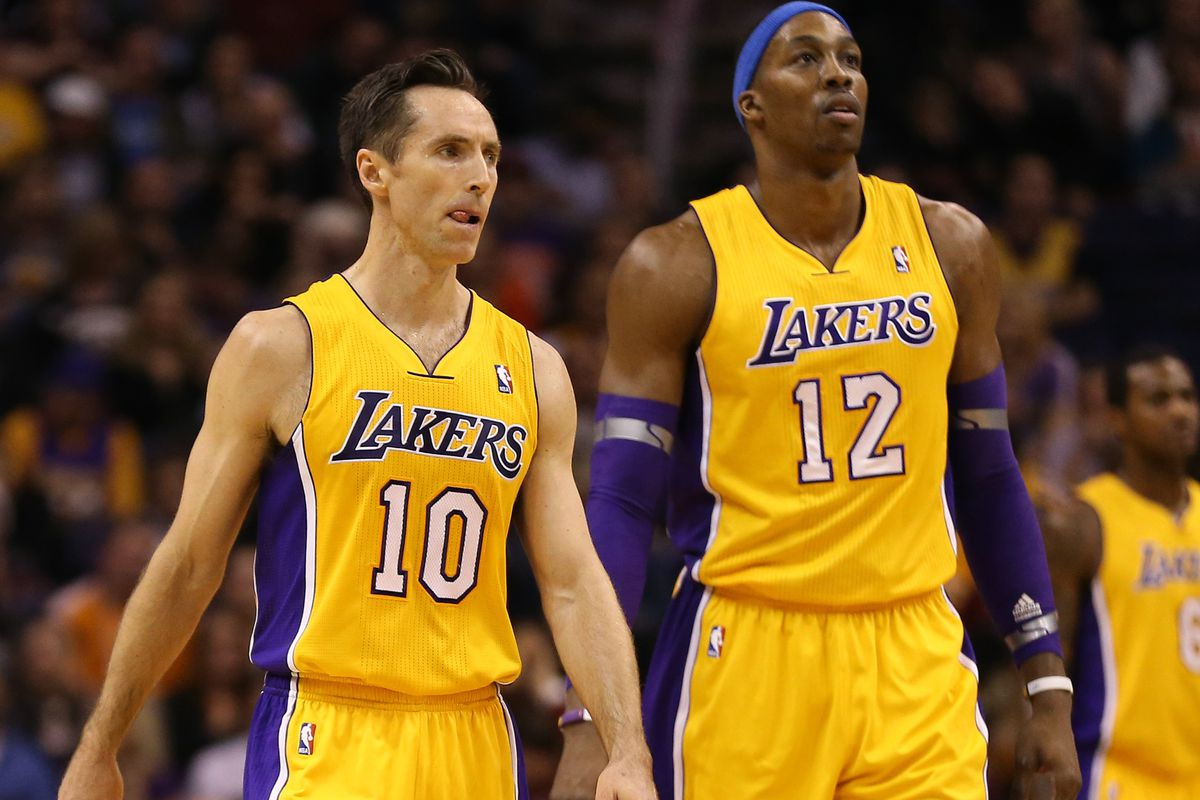 finest selection c784c d1b42 Steve Nash says Dwight Howard, Lakers were never a good fit ...