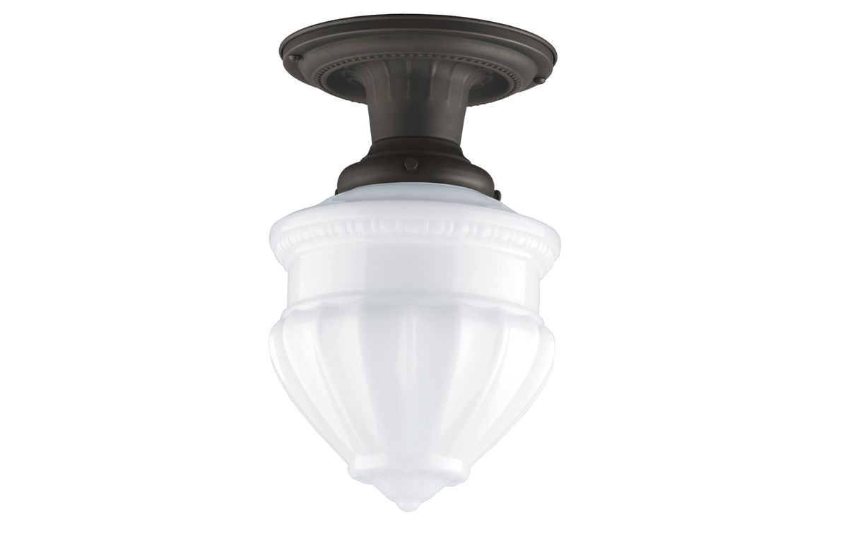 Glass-Shade Ceiling Fixture