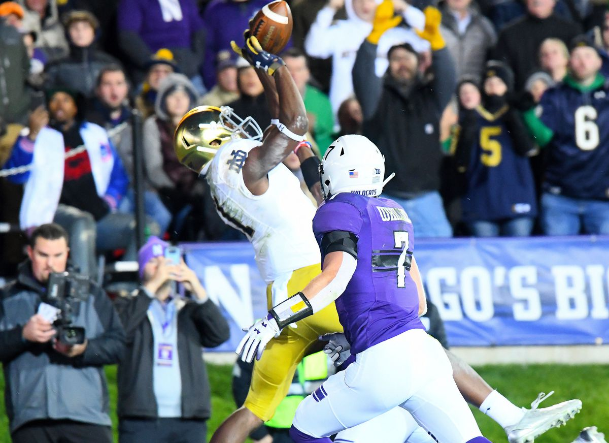 NCAA Football: Notre Dame at Northwestern