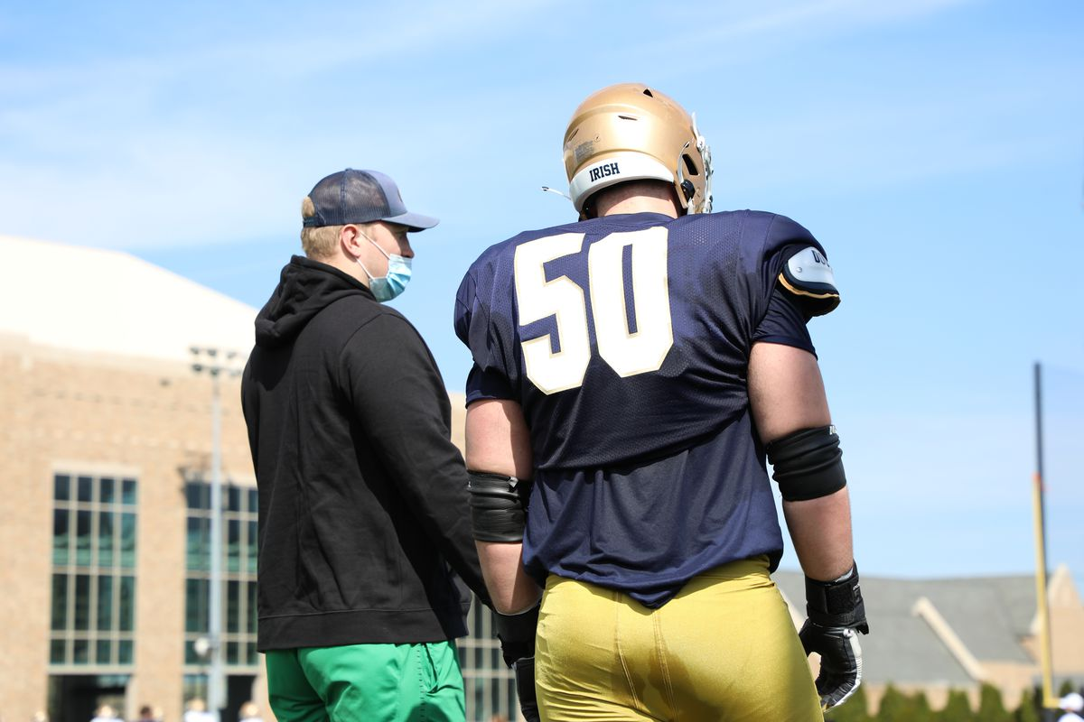 Liam Eichenberg and Rocco Spindler Notre Dame Football