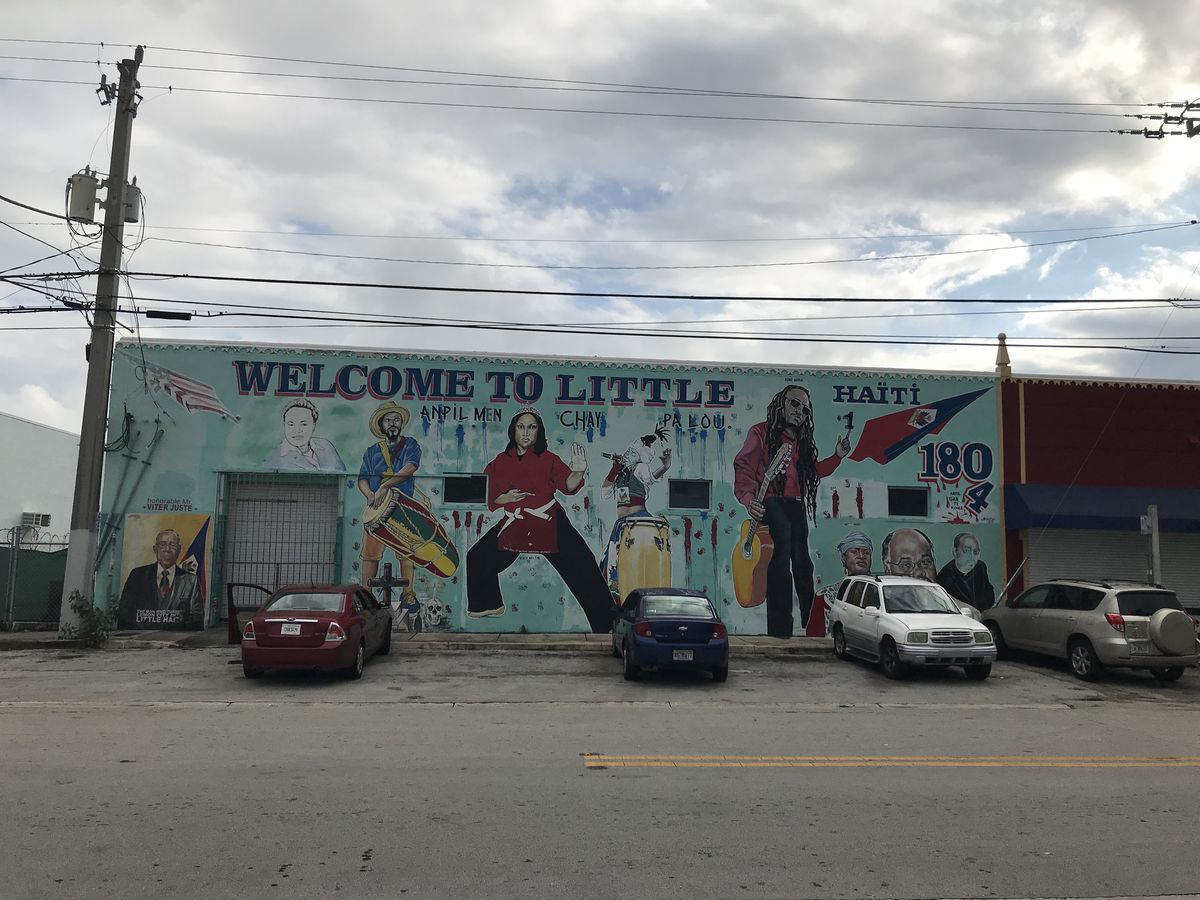 One of numerous murals around the Little Haiti neighborhood.