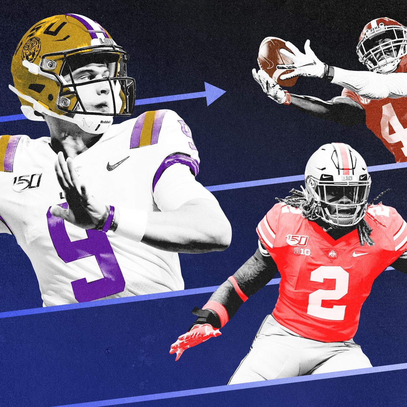 Nfl Mock Draft Joe Burrow Already Feels Set At No 1 Who Goes Next The Ringer Personally, i was team burrow, but haskins took advantage of burrow getting injured by playing great in relief for jt in the game. nfl mock draft joe burrow already