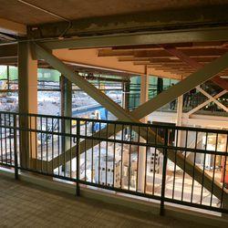 6:28 p.m. Third base line construction area -