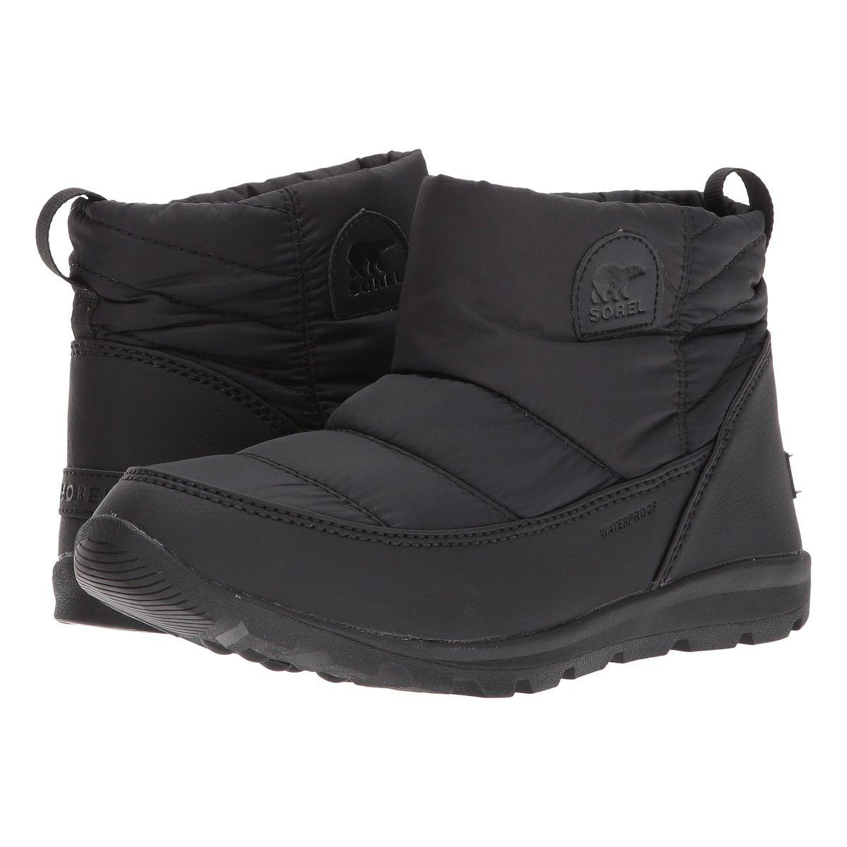 Black short winter booties