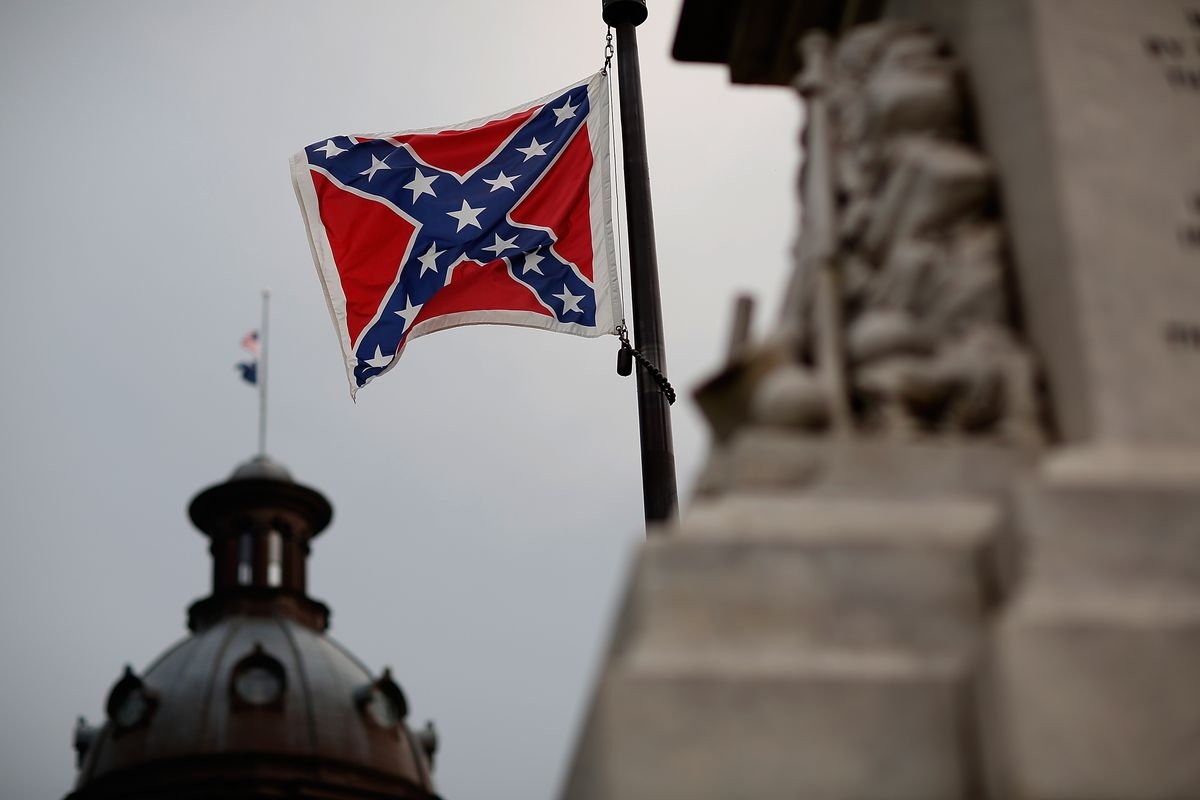 The Confederate flag is still up at South Carolina's Capitol, for now.