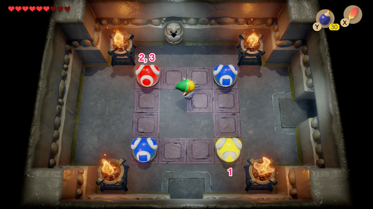 Link's Awakening Color Dungeon second colored ball puzzle