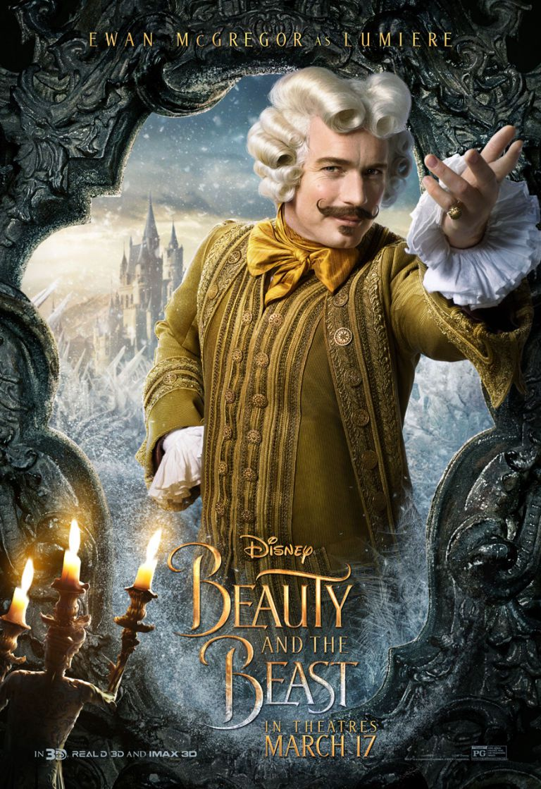 Beauty and the Beast poster starring Lumiere