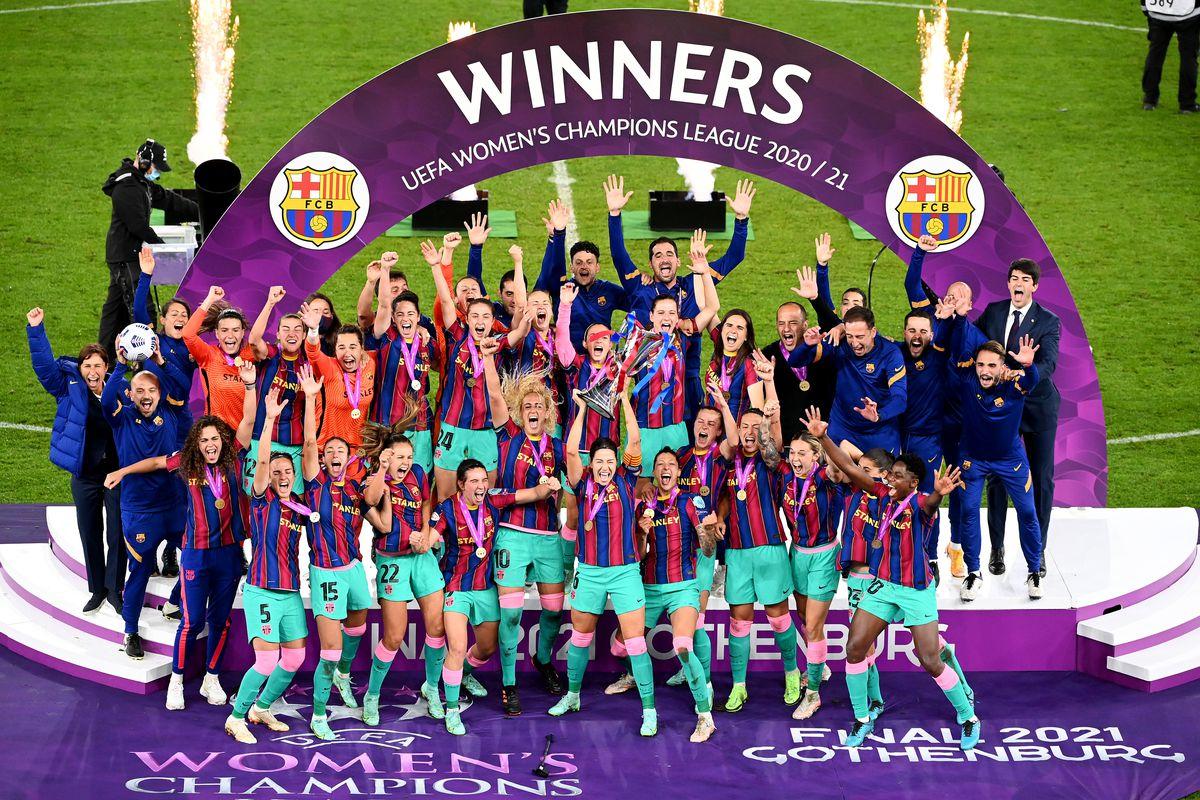 El Barça logra la primera champions femenina de la historia del fútbol español goleandoal Chelsea