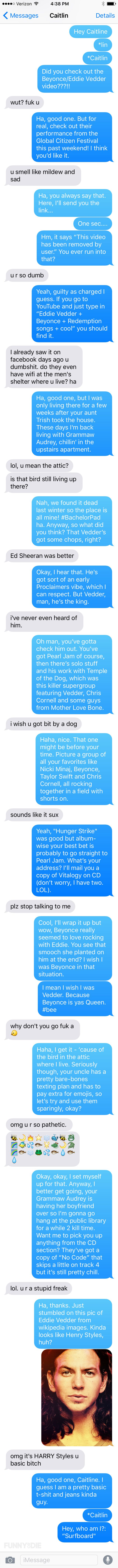 Text Messages In Which I Try To Connect With My Niece Over