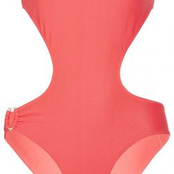"""Pistol Panties Farah solid strapless cutout <a href=""""http://www.theoutnet.com/product/231629"""" rel=""""nofollow"""">swimsuit</a>. Original price $230; now $34.50."""